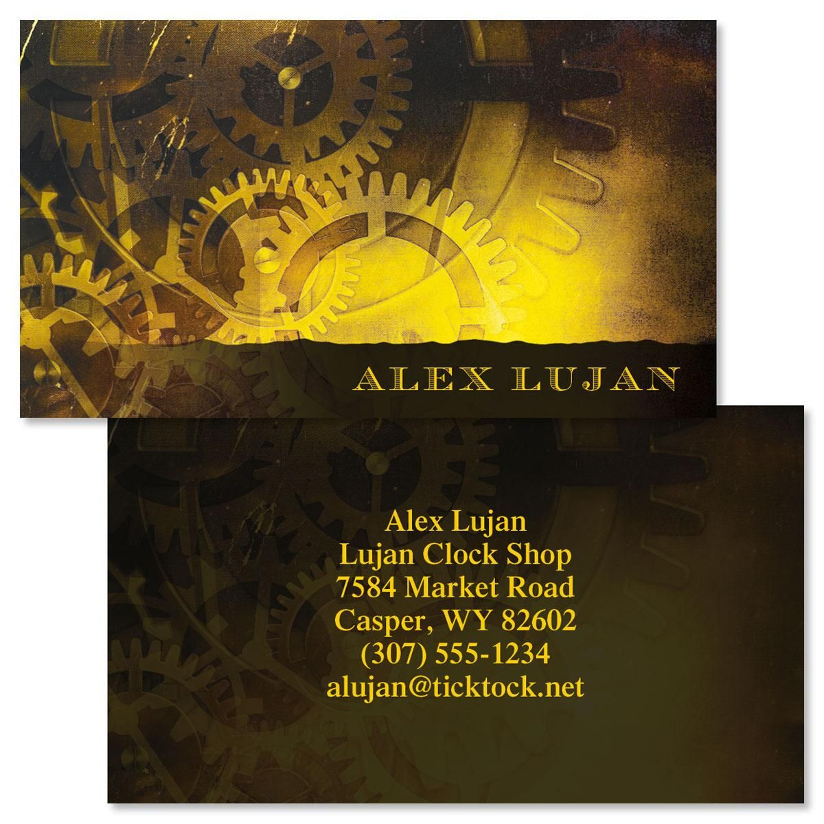 Out Of Time  Double-Sided Business Cards