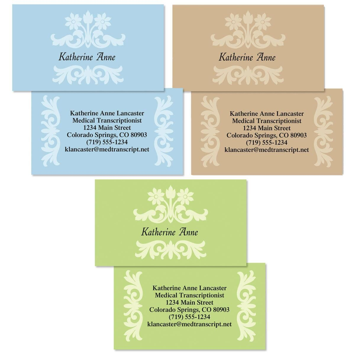 Color Block  Double-Sided Business Cards