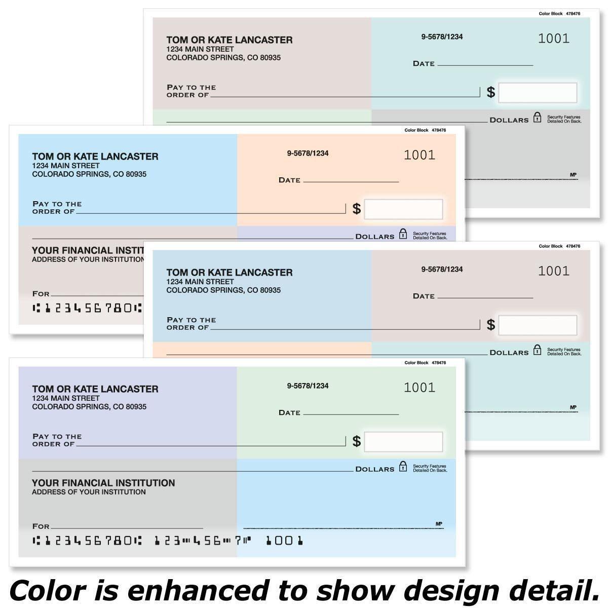 Color Block Personal Checks