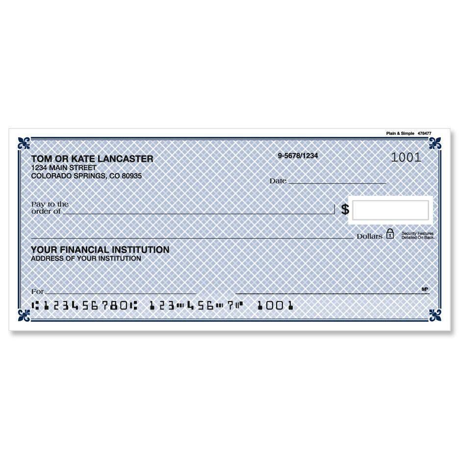 Plain & Simple Personal Checks