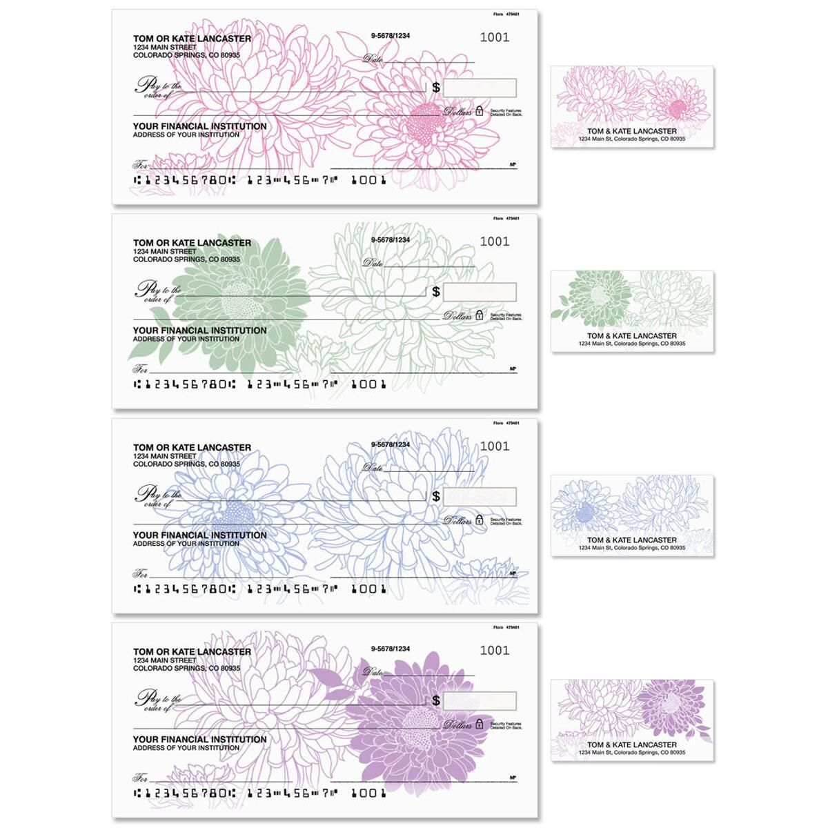 Flora Single Checks With Matching Address Labels