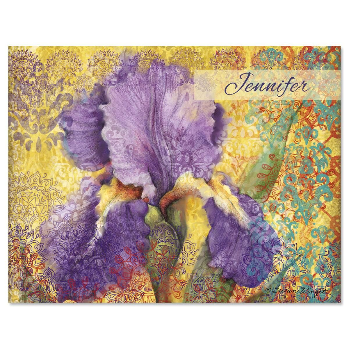 Elaborate Floral  Personalized Note Cards