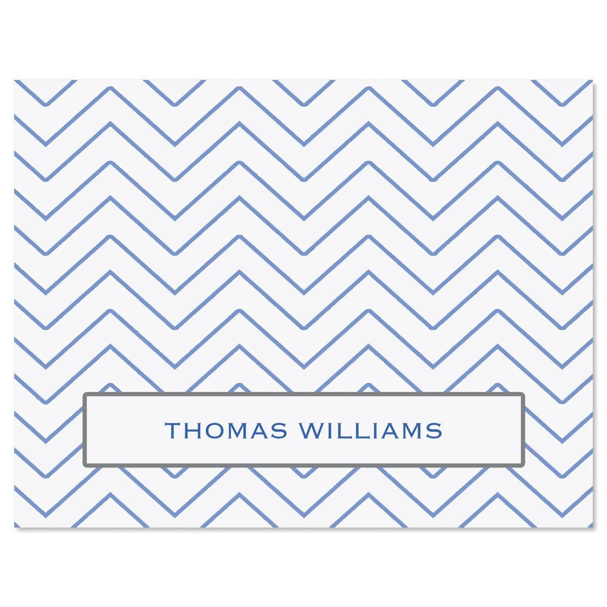 Tailored Chevron Personalized Note Cards