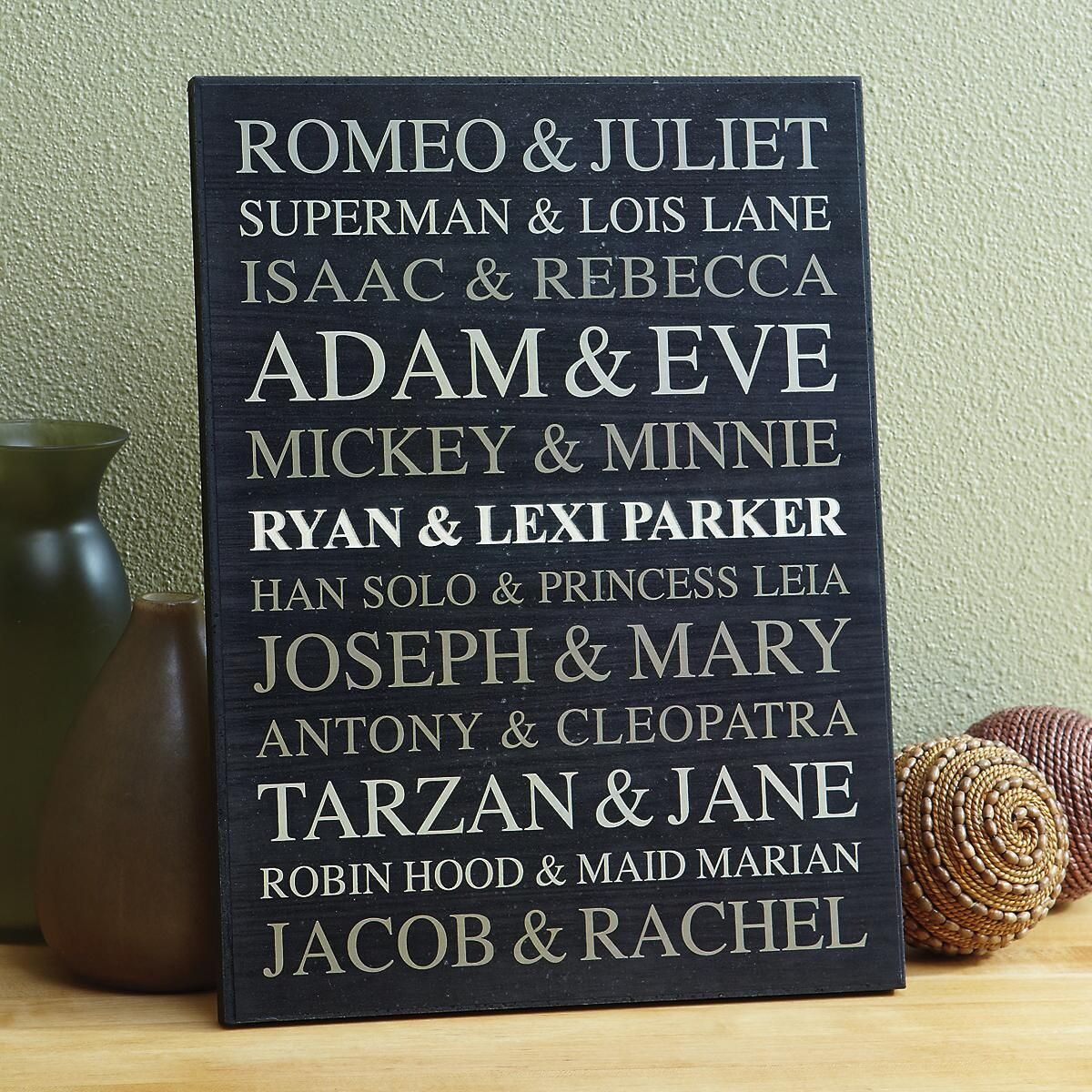 Couples Personalized Wooden Plaque