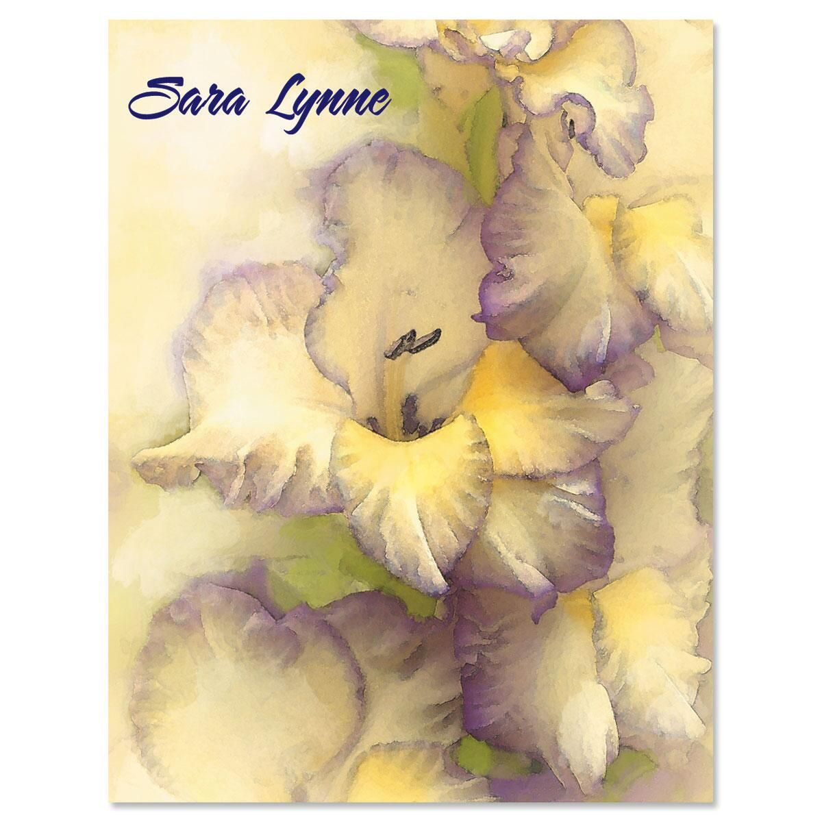 Gladiolus Personalized Note Cards