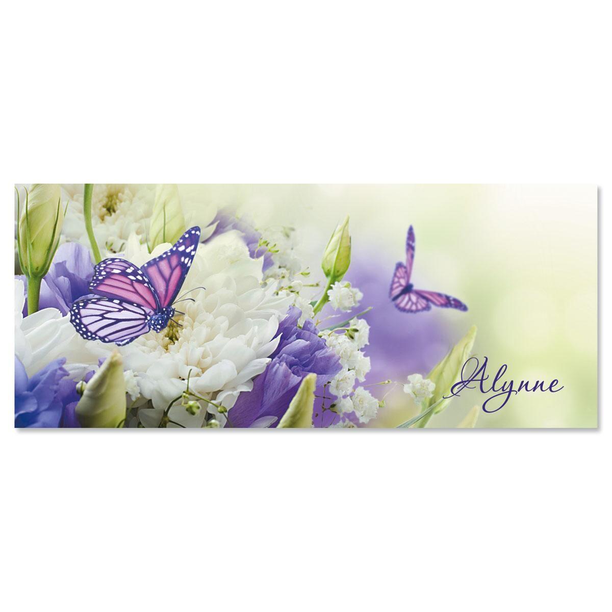 Butterfly Slimline Custom Note Cards