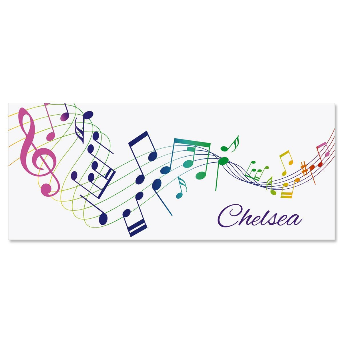 Musical  Personalized Slimline Note Cards