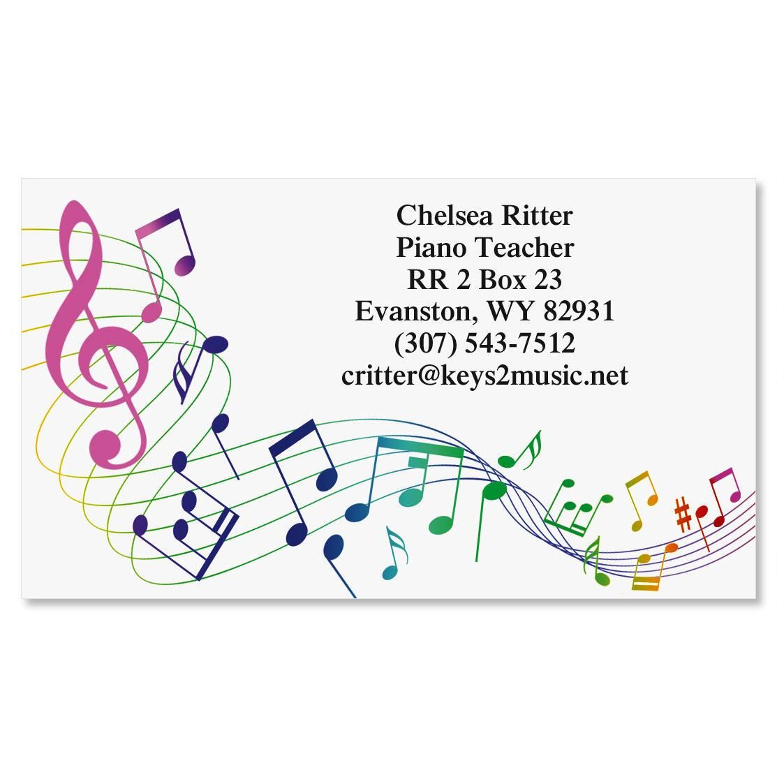 Musical   Business Cards