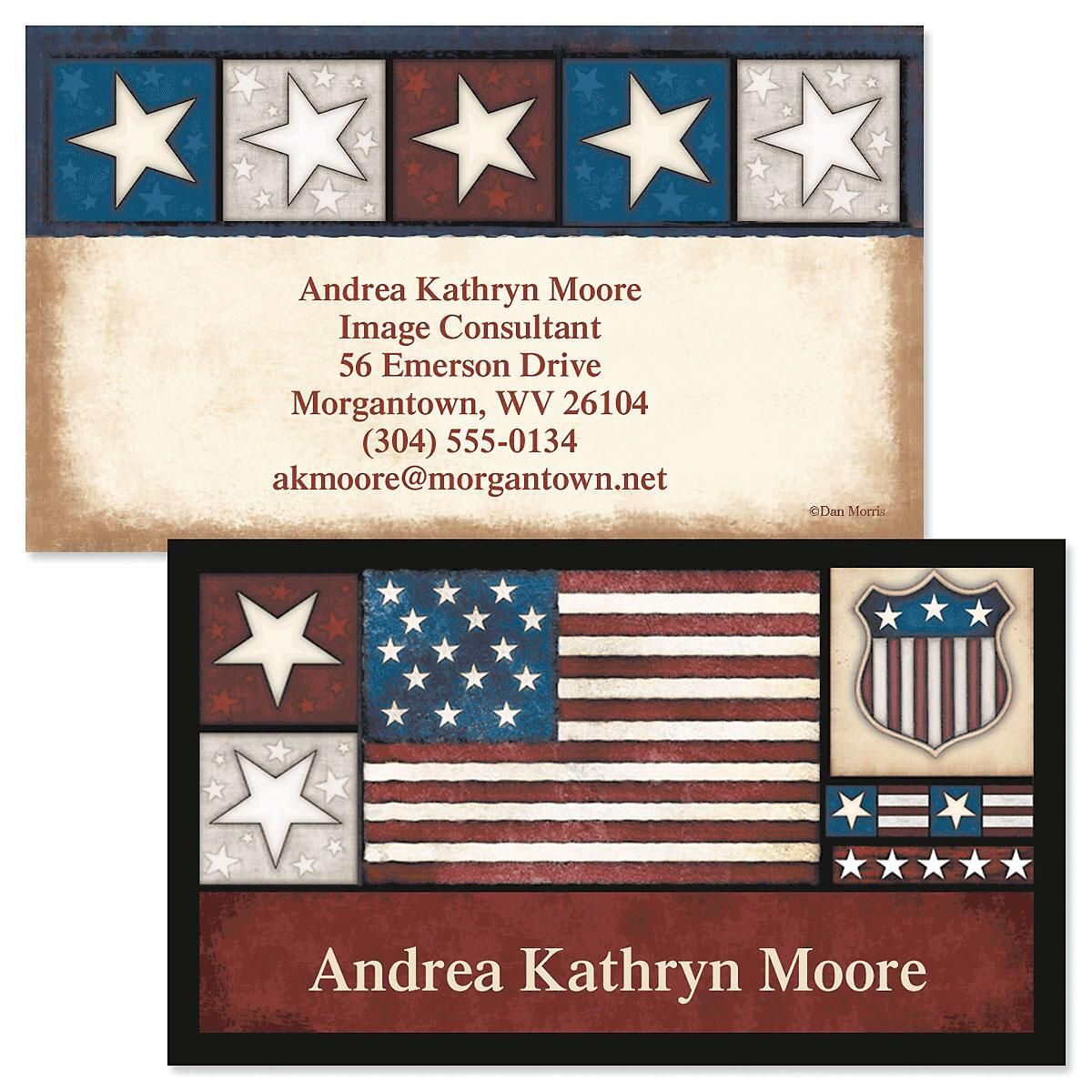 Liberty Double-Sided Business Cards