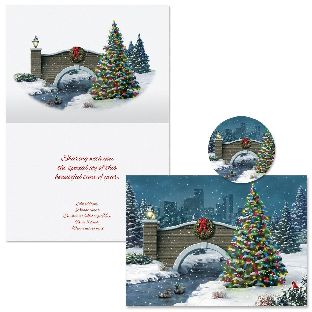 Peace for a Moment Christmas Cards -  Personalized