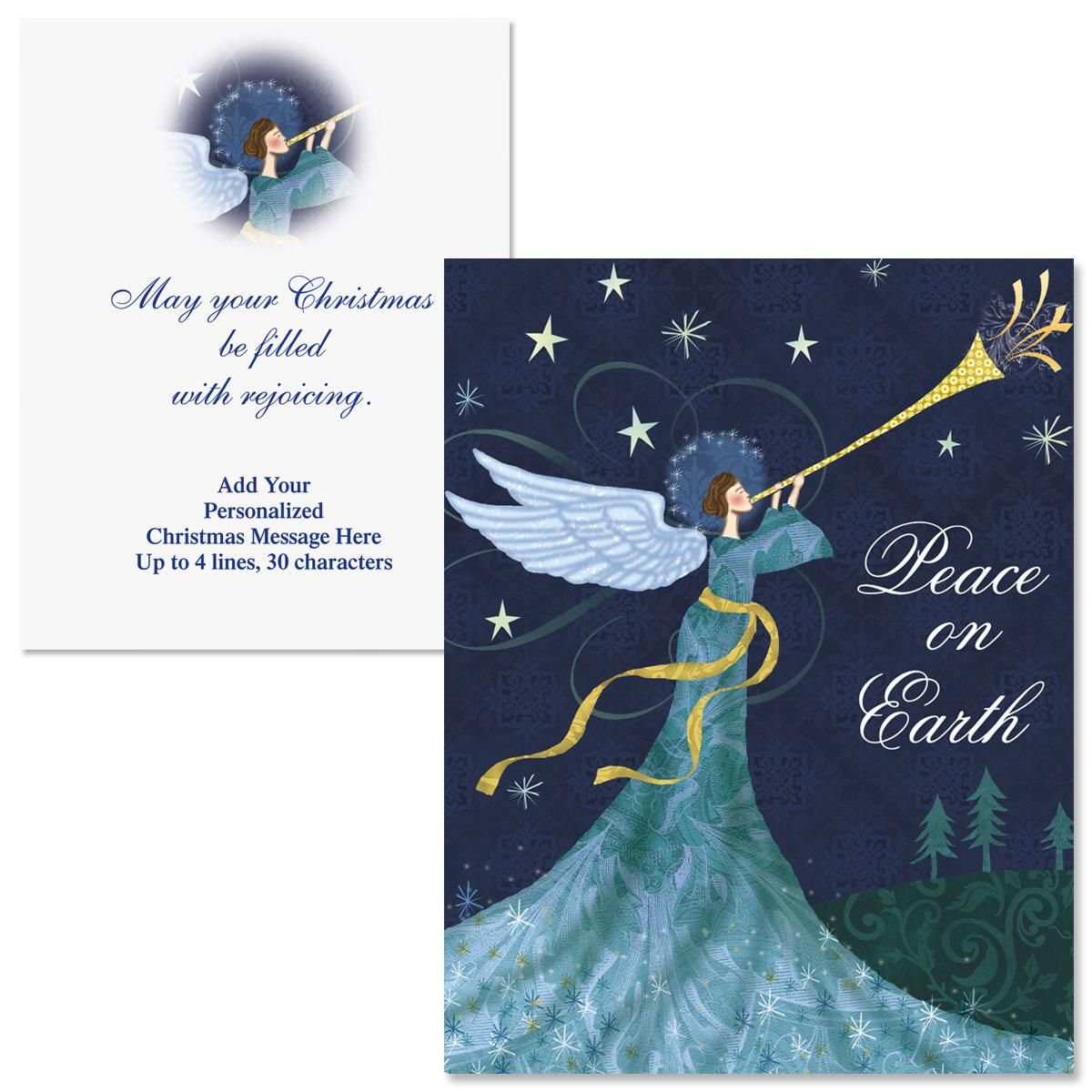 Peace Angel  Note Card Size Christmas Cards