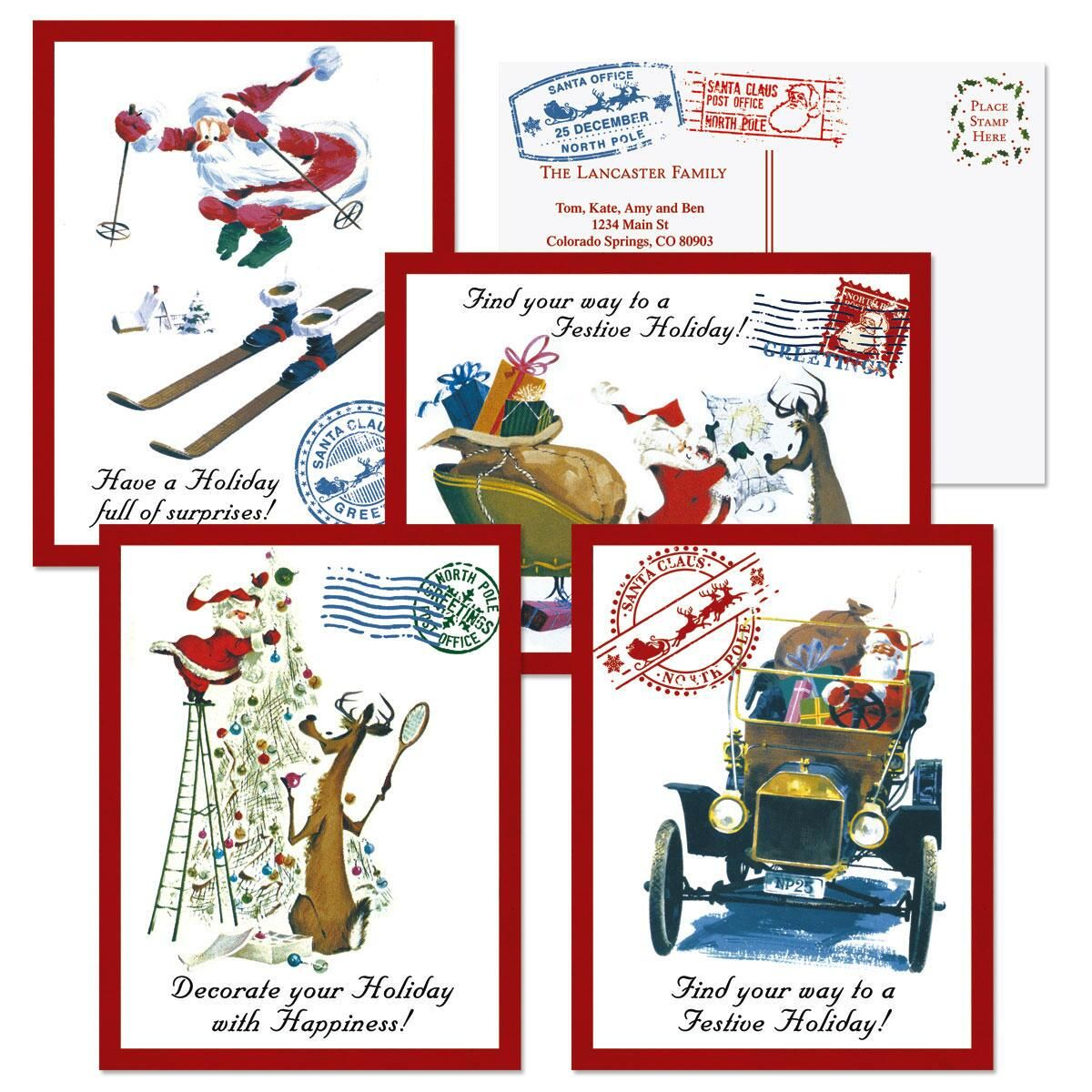 Santa Wishes Christmas Postcards