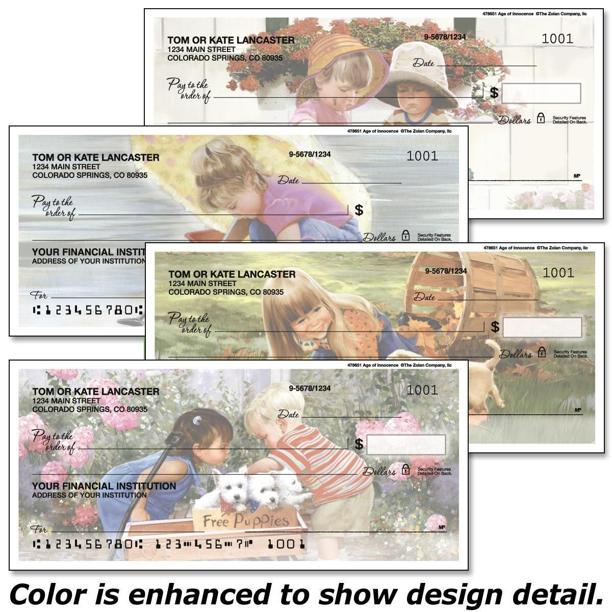Age of Innocence Personal Checks