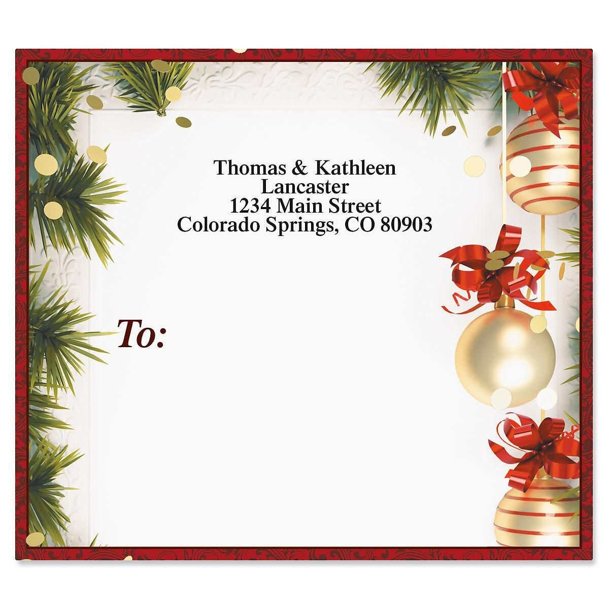 Christmas Twilight Package Labels | Colorful Images
