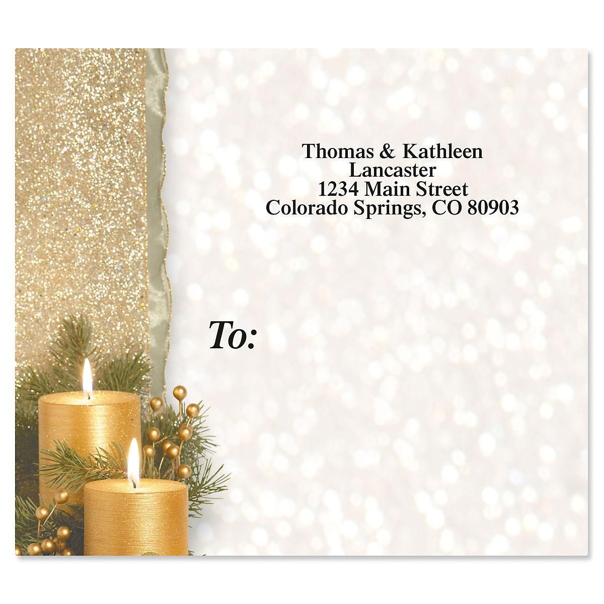 Golden Glimmer Package Labels