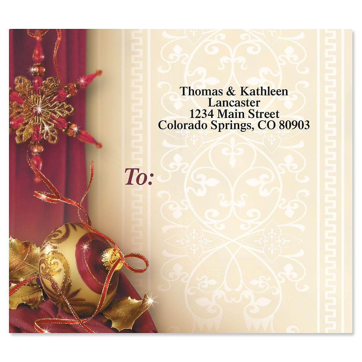 Glittering Garnets Package Labels