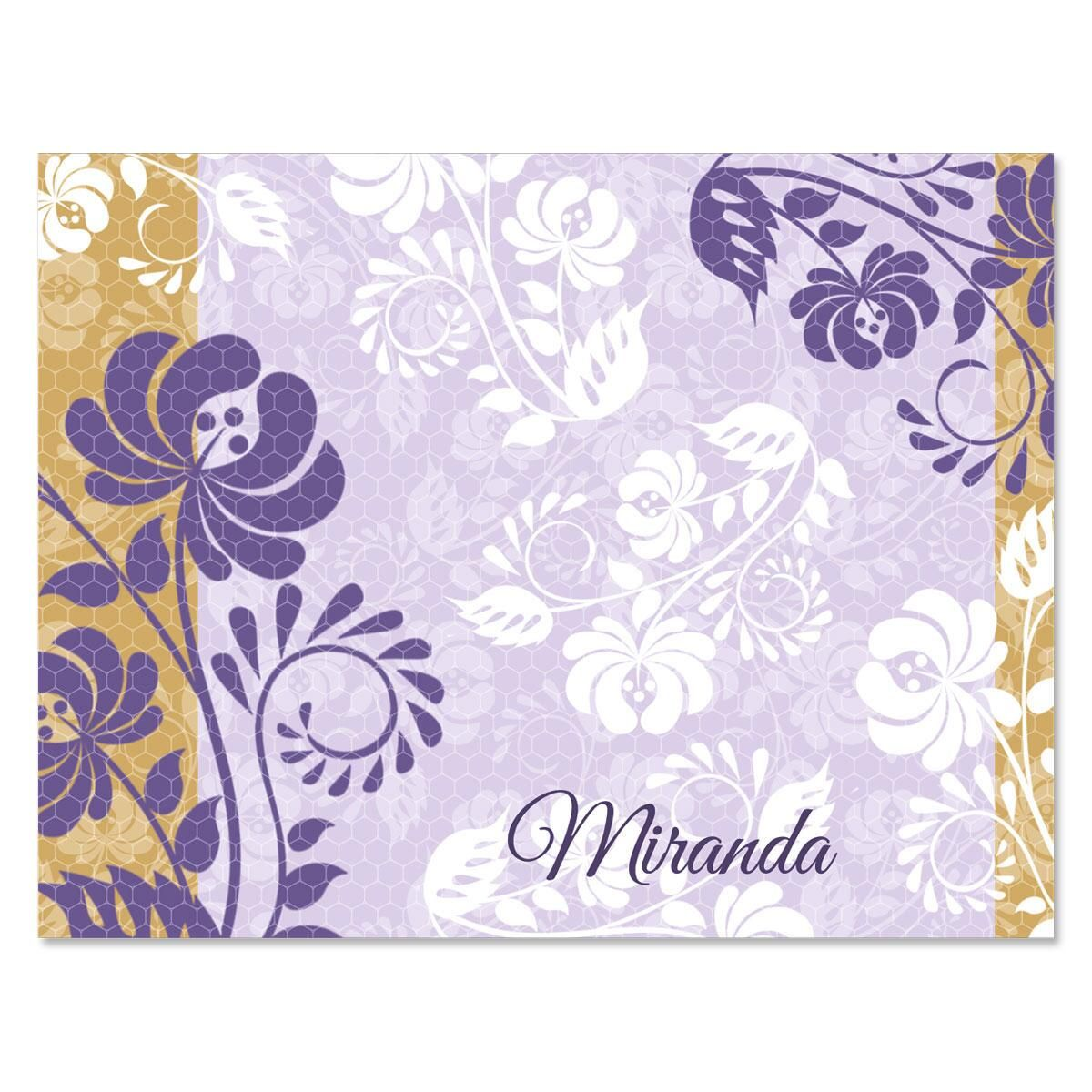 Frosty Lavender Custom Note Cards