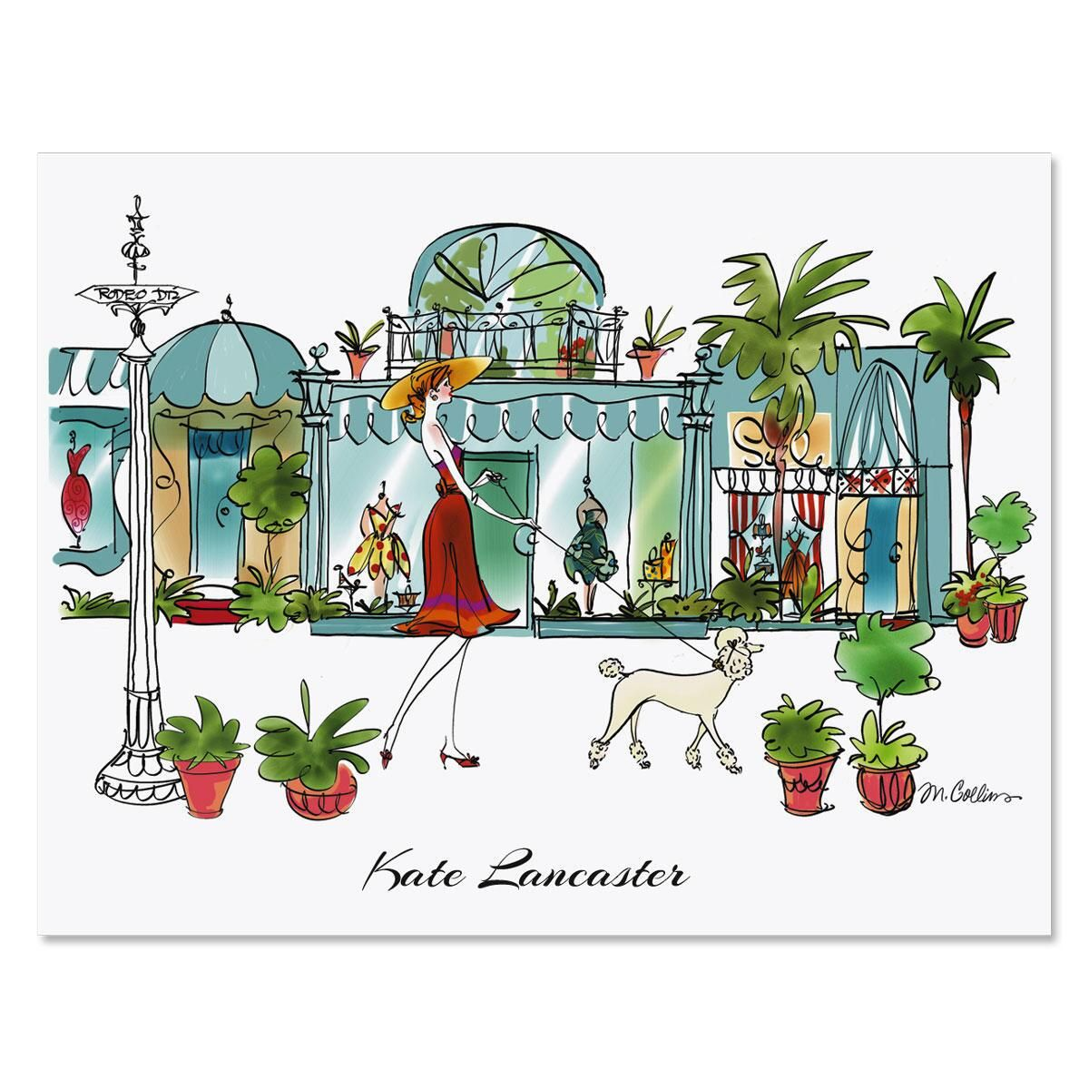 Rodeo Drive Personalized Note Cards
