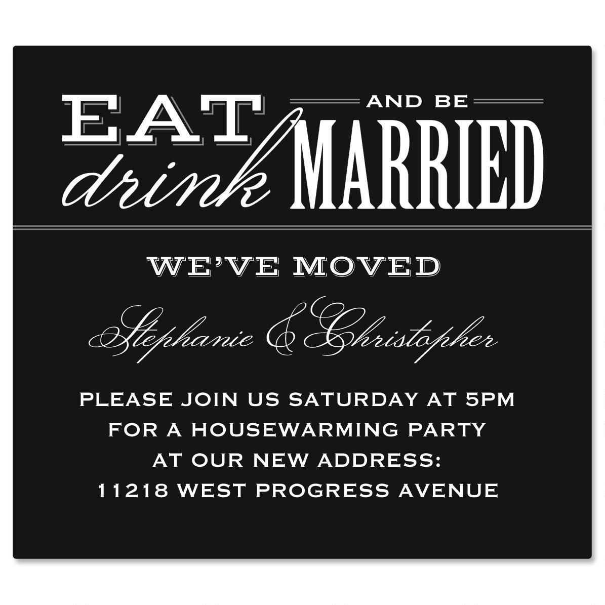 Eat, Drink, Be Married Canning Label - Large