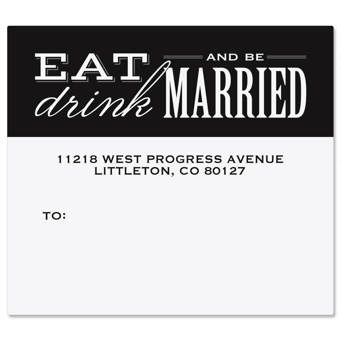 Eat, Drink, Be Married Package Labels