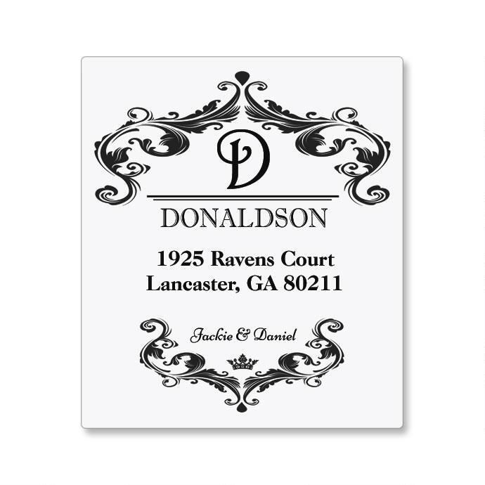 Vineyard Couple Canning Label - Small