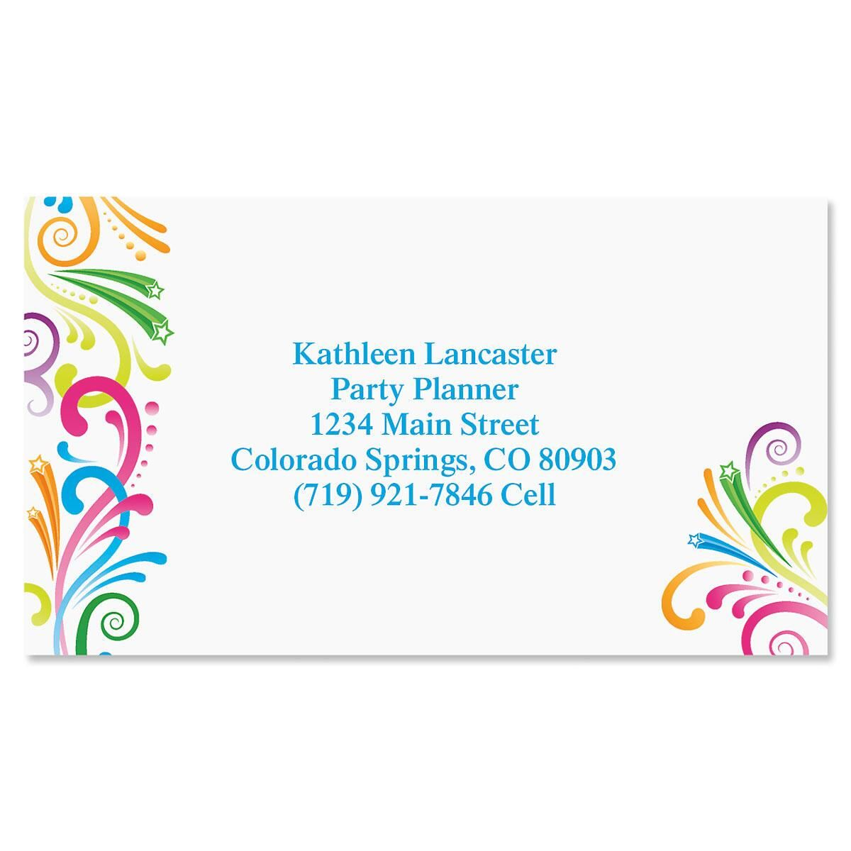 Party Spirit Business Cards