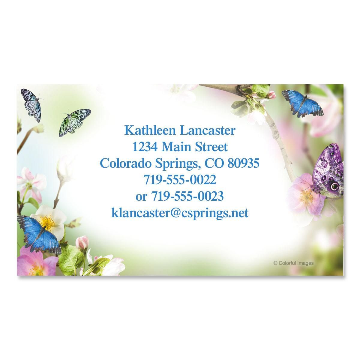 Butterfly Delight Business Cards | Colorful Images