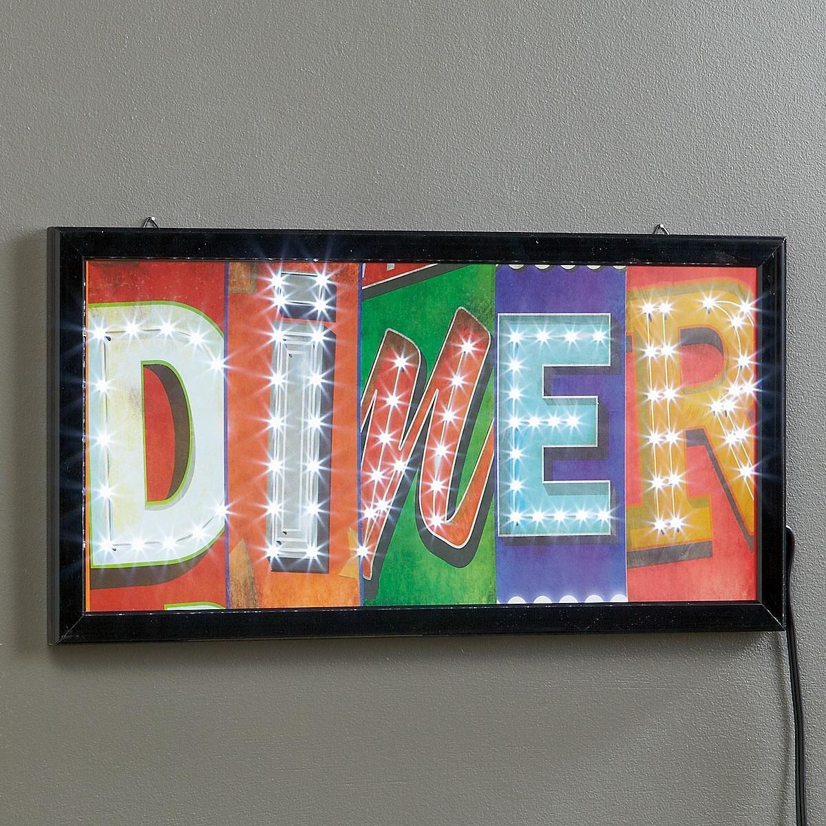 Diner LED Wall Decor