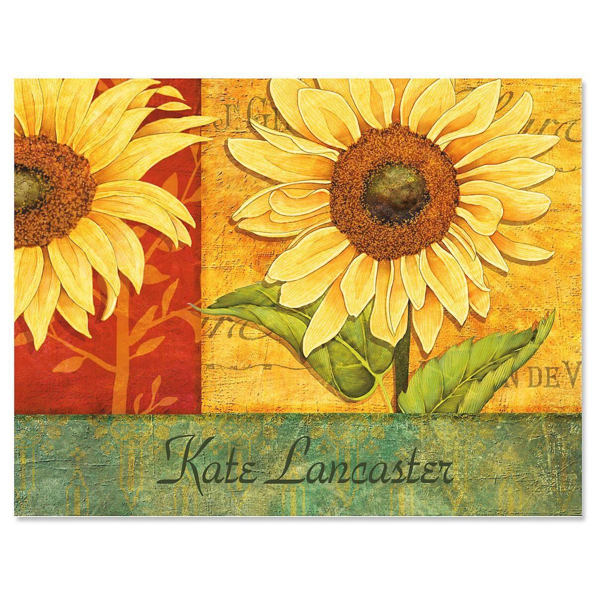 Jardin du soleil custom note cards colorful images for Jardin soleil