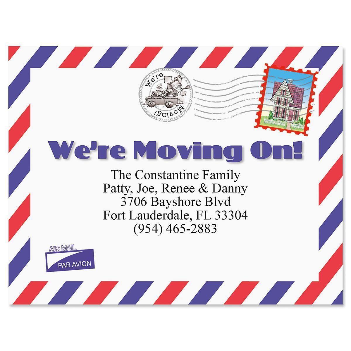 Moving On New Address Postcards