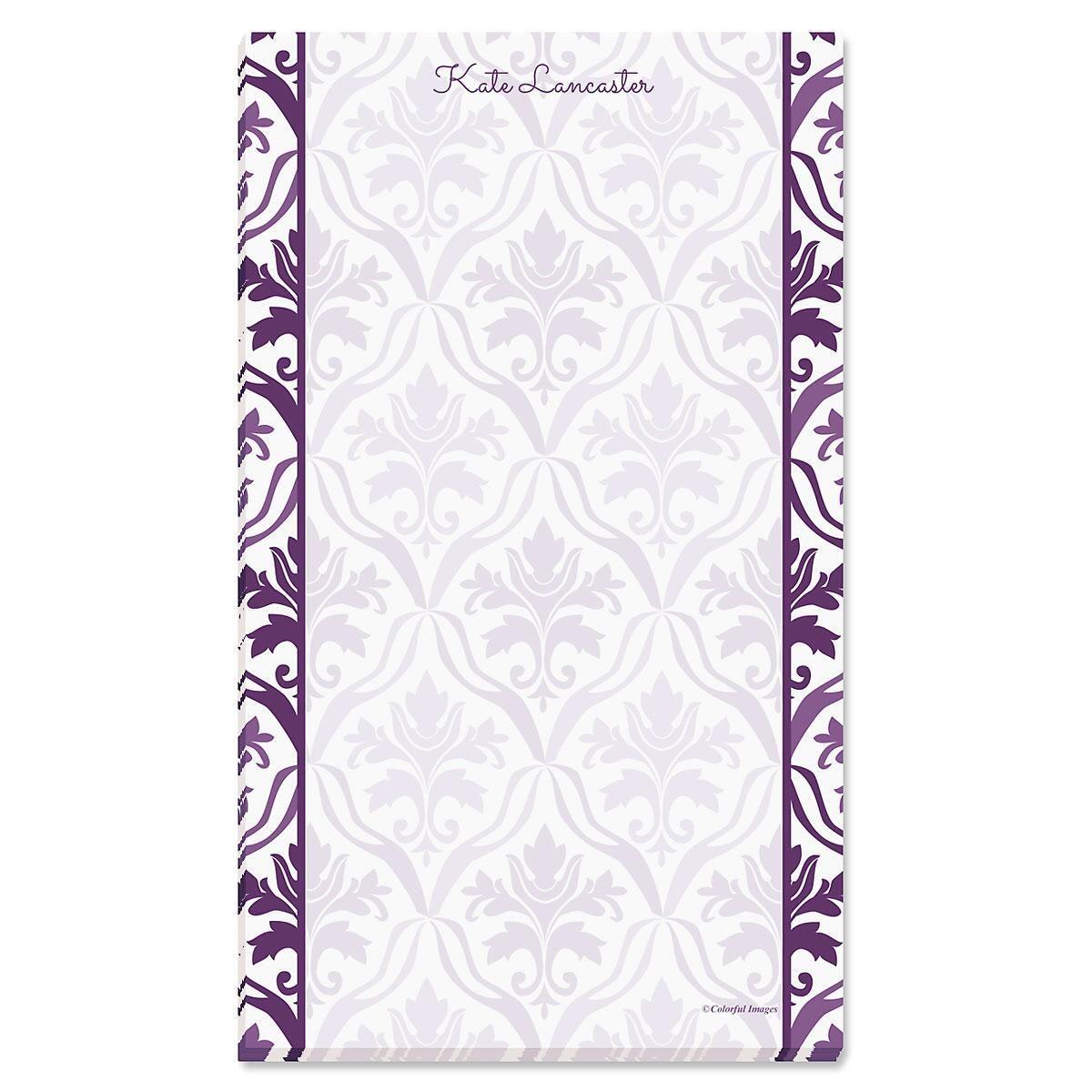 Aubergine Elegance Custom Memo Pads