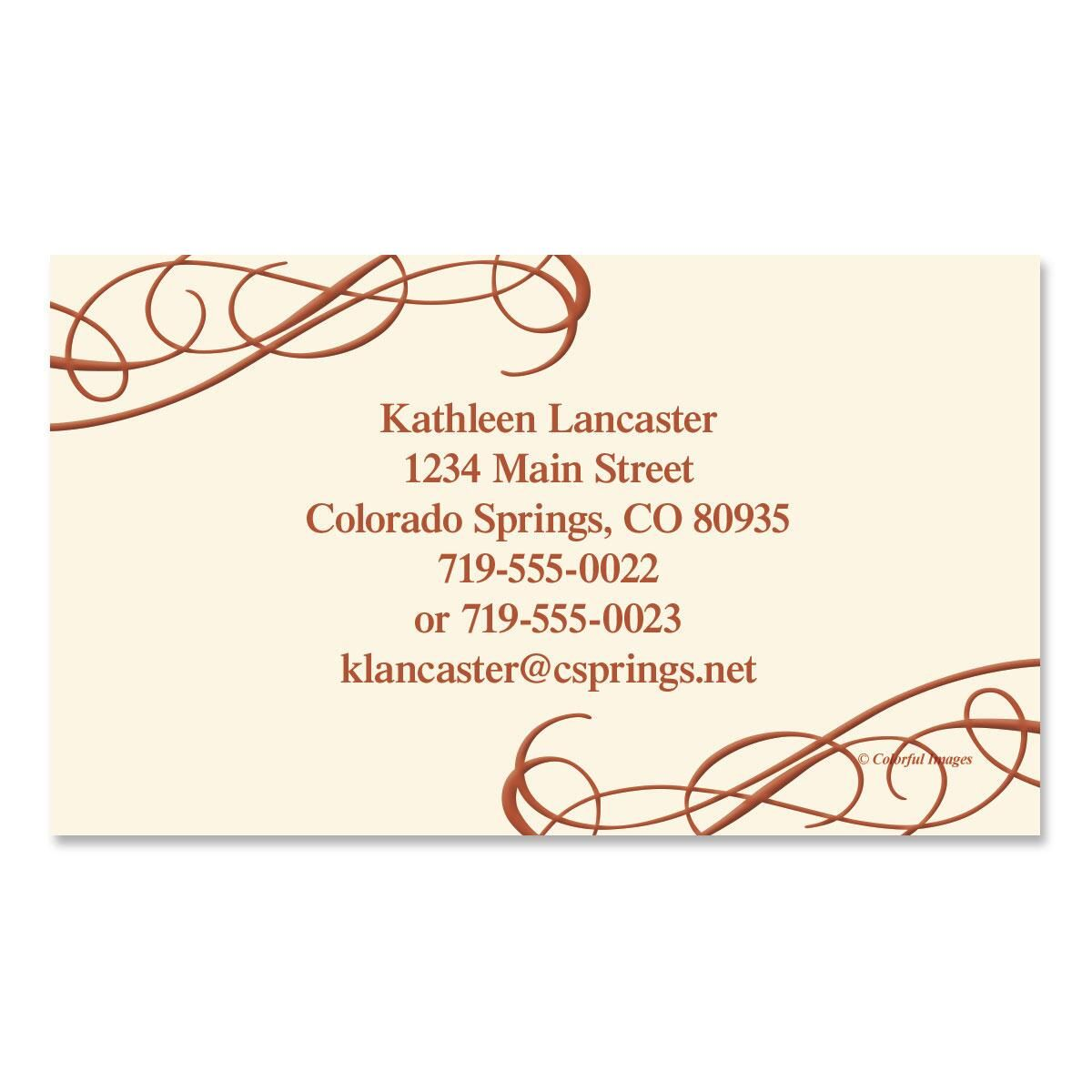 Amber Swirl Business Cards