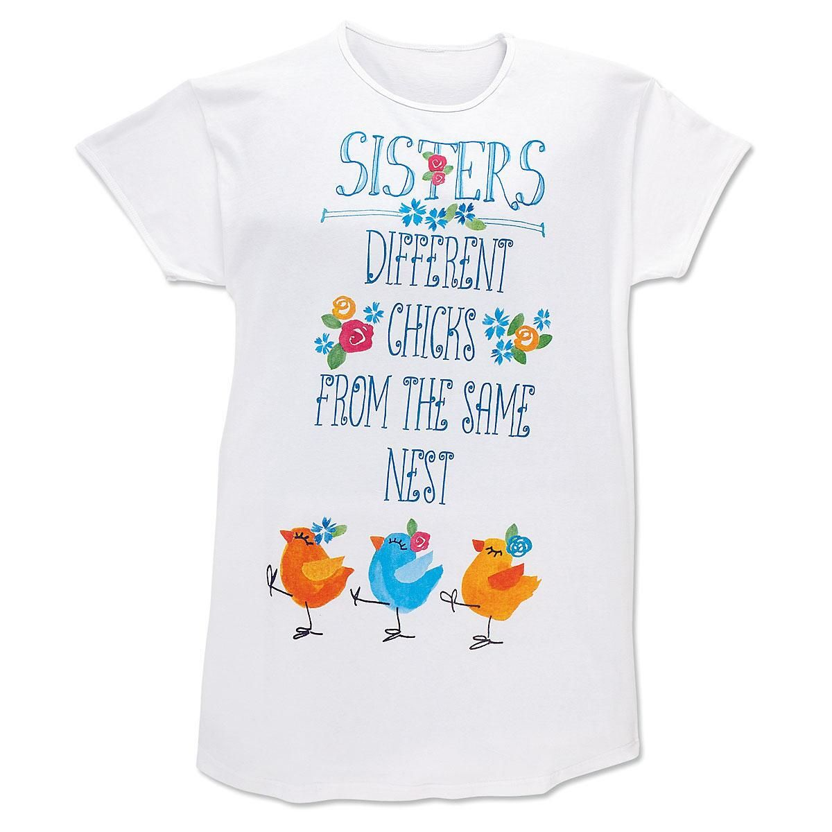 Sisters Different Sleep Shirt