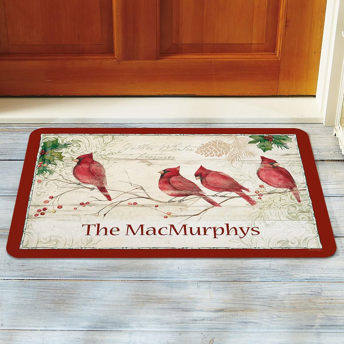 Winter Wonders Personalized Doormat