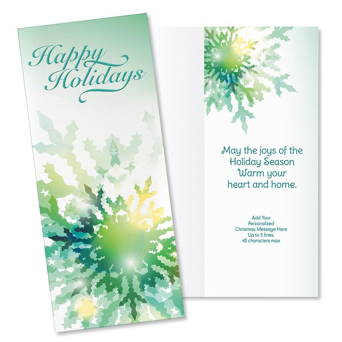 Winter Frost Slimline Holiday Cards