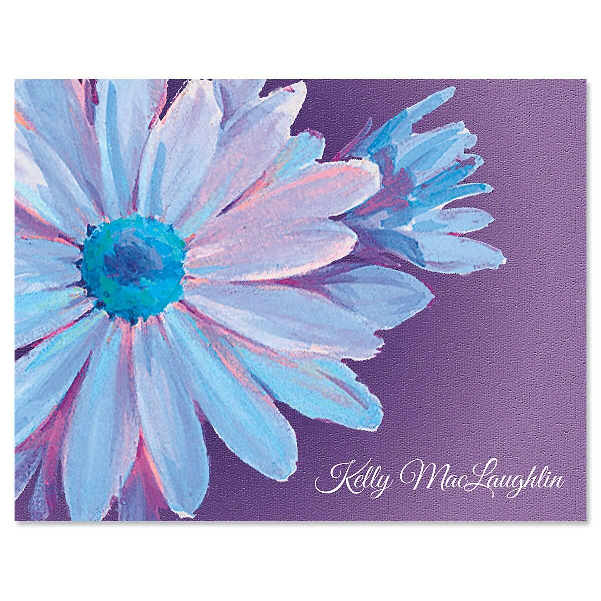 Floral Burst Personalized Note Cards