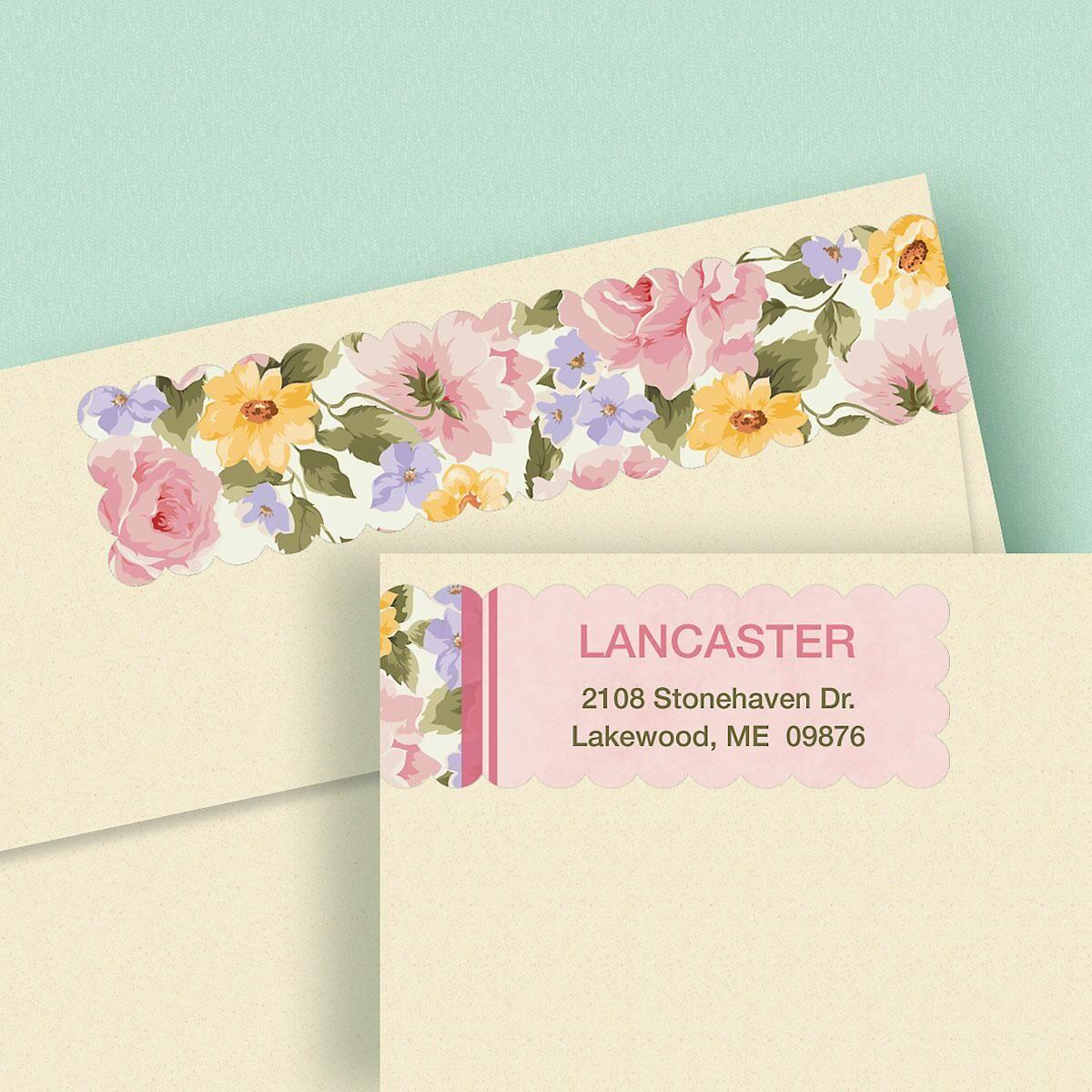 Garden Flair Connect Wrap Diecut Address Labels