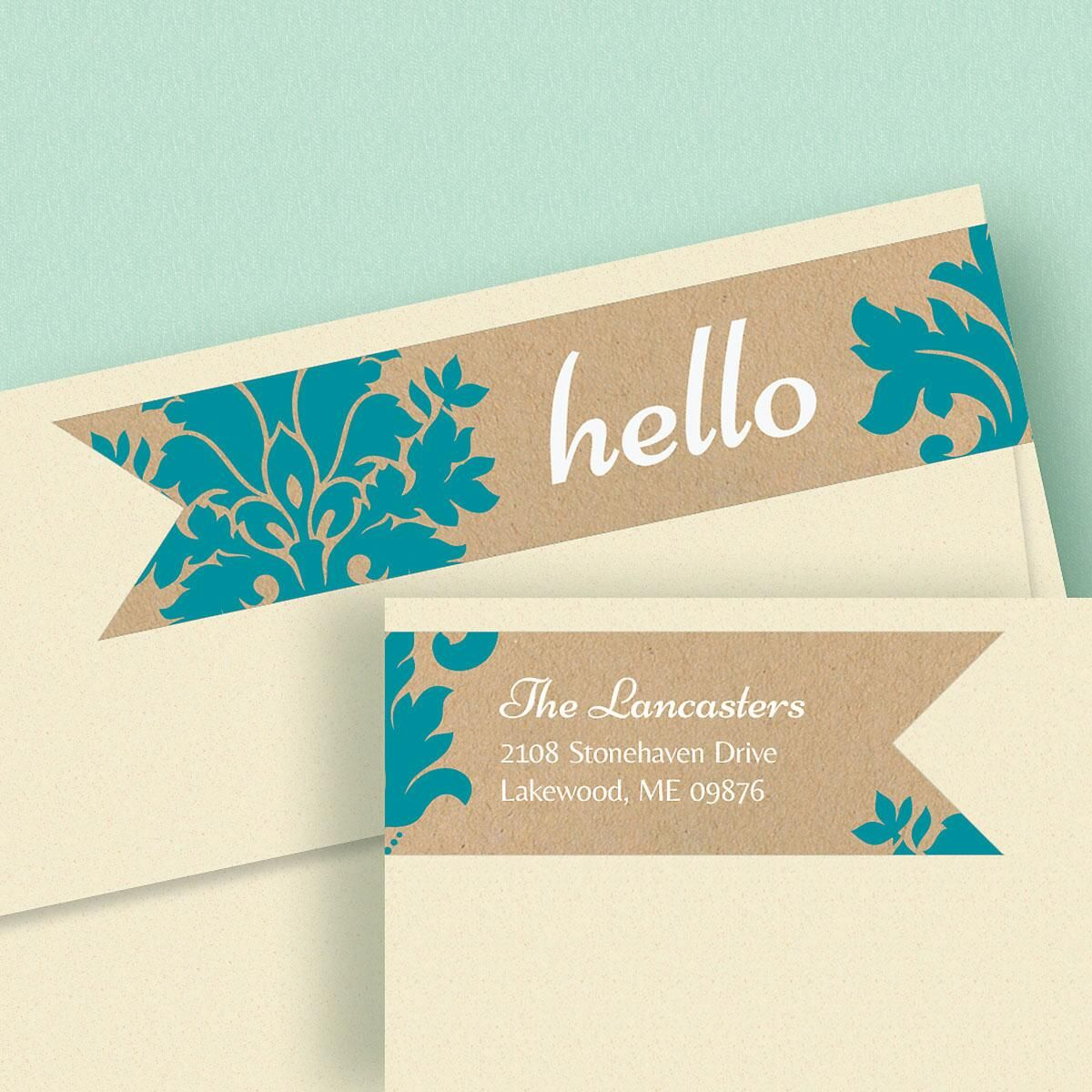 Salutations Connect Wrap Diecut Address Labels