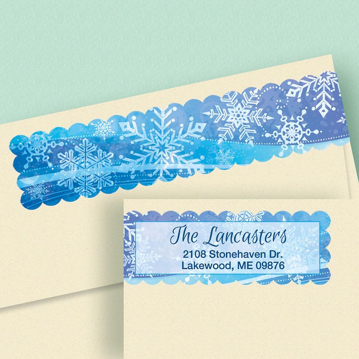 Snowflake Connect Wrap Diecut Address Labels