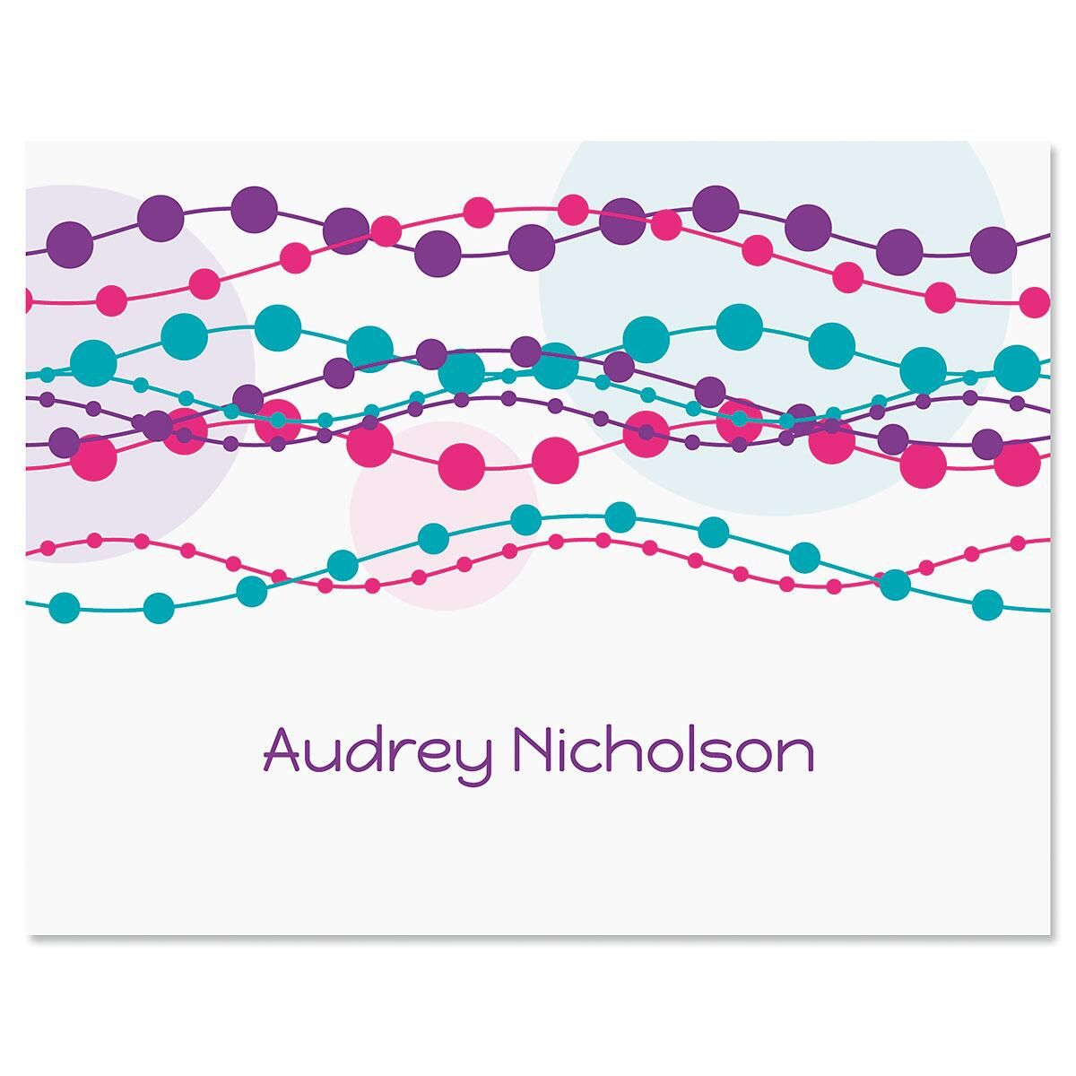 Strands Personalized Note Cards