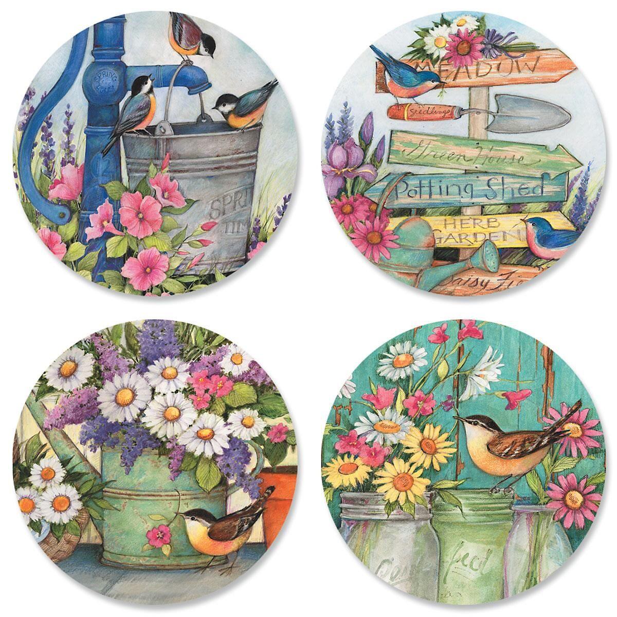 Garden Signs Envelope Seals (4 Designs)