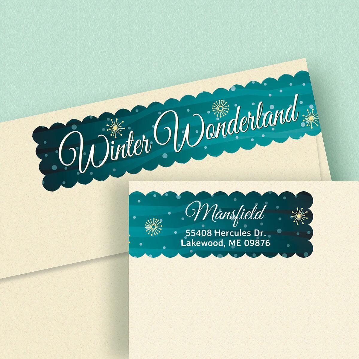 Winter Wonderland Connect Wrap Diecut Address Labels