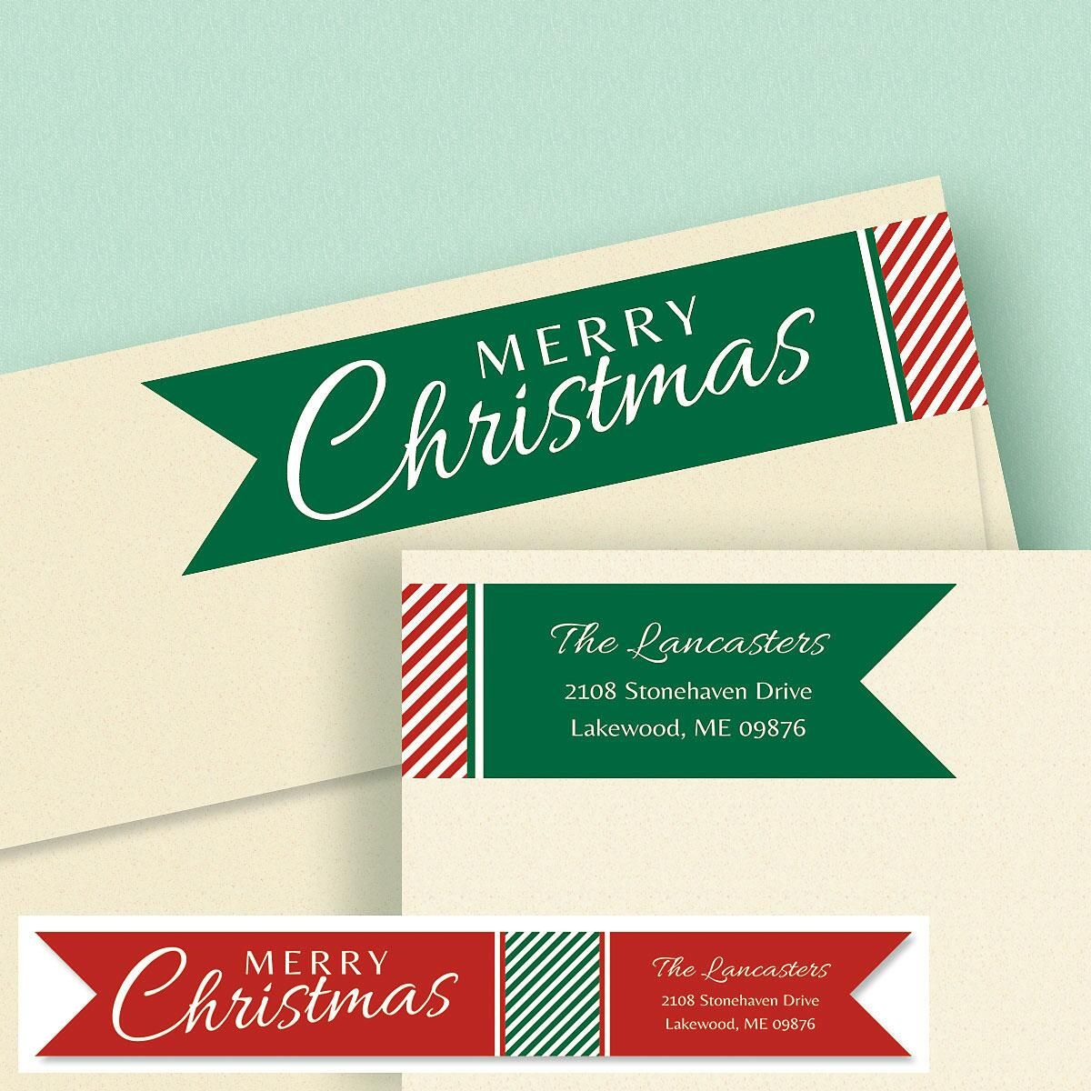 Holiday Connect Wrap Diecut Address Labels