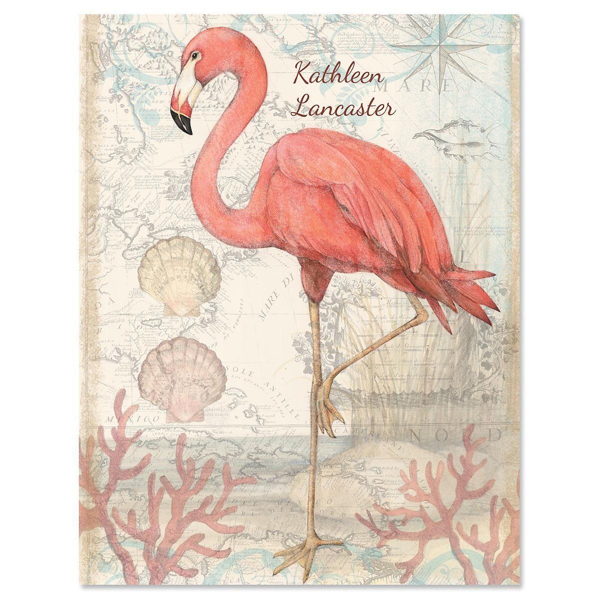 Flamingo Custom Note Cards