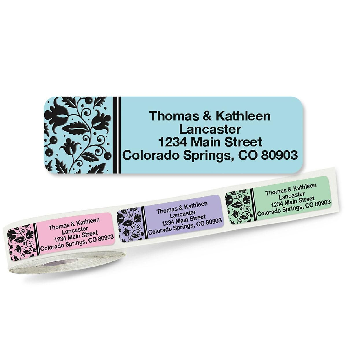 Imperial Rolled Return Address Labels  (5 Designs)