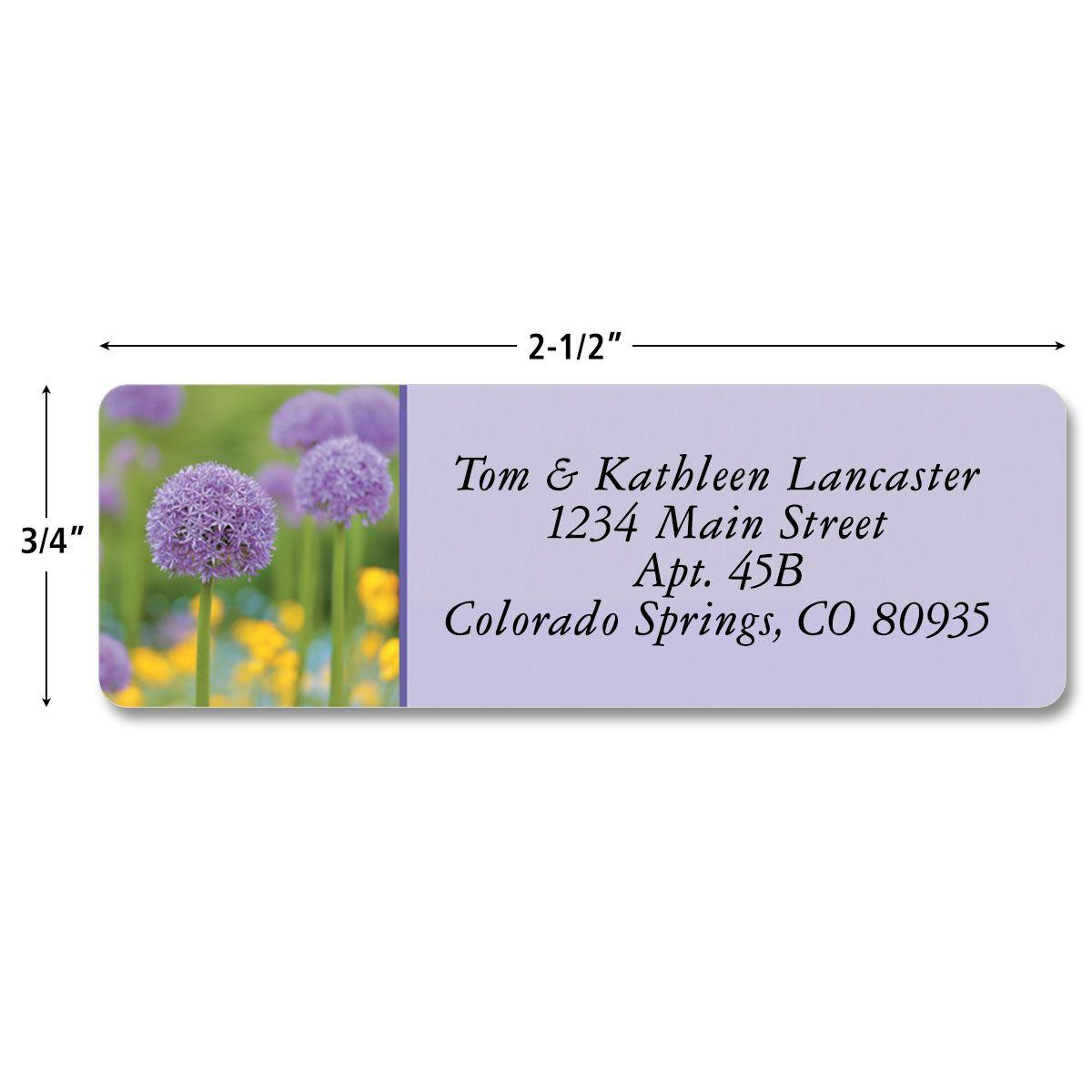 Floral Fantasy Rolled Return Address Labels  (5 Designs)