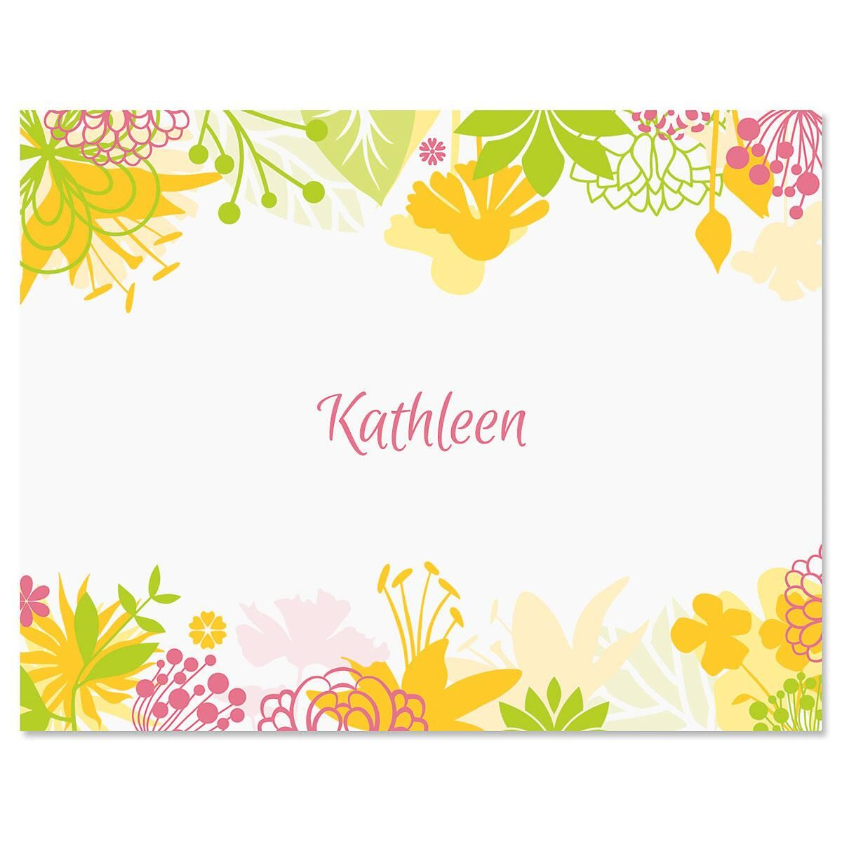 Floret Custom Note Cards