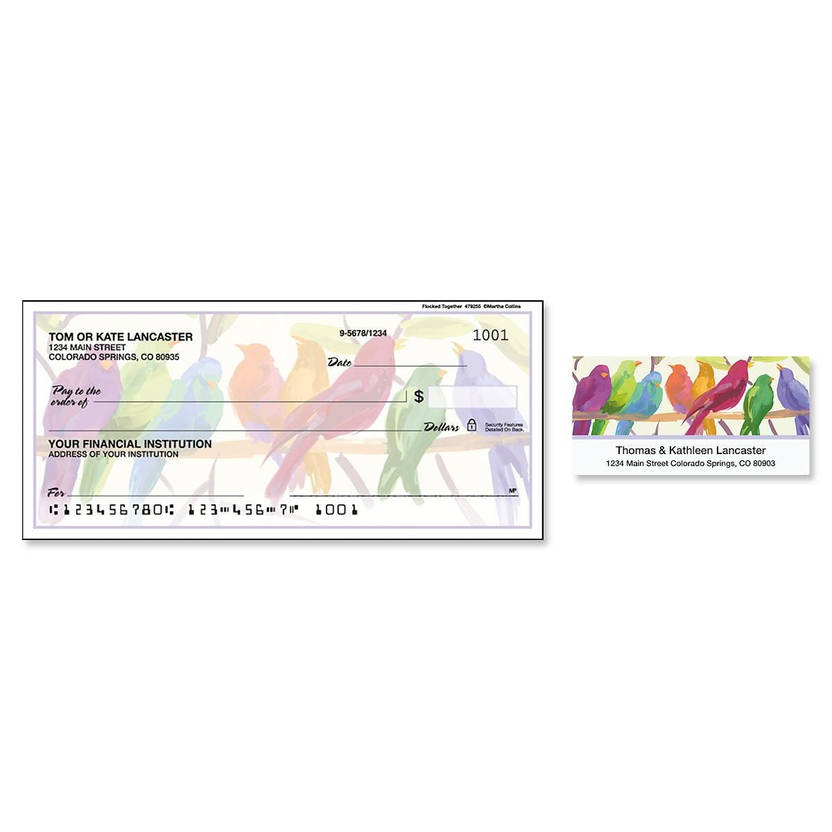 Flocked Together Single Checks with Matching Address Labels