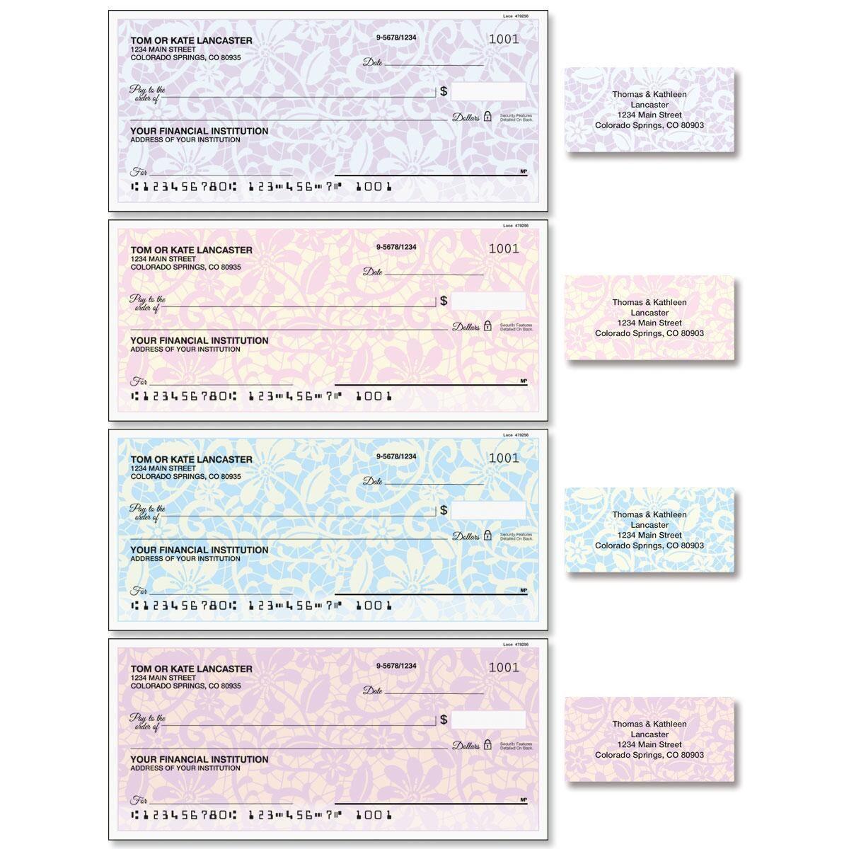 Lace Single Checks with Matching Address Labels