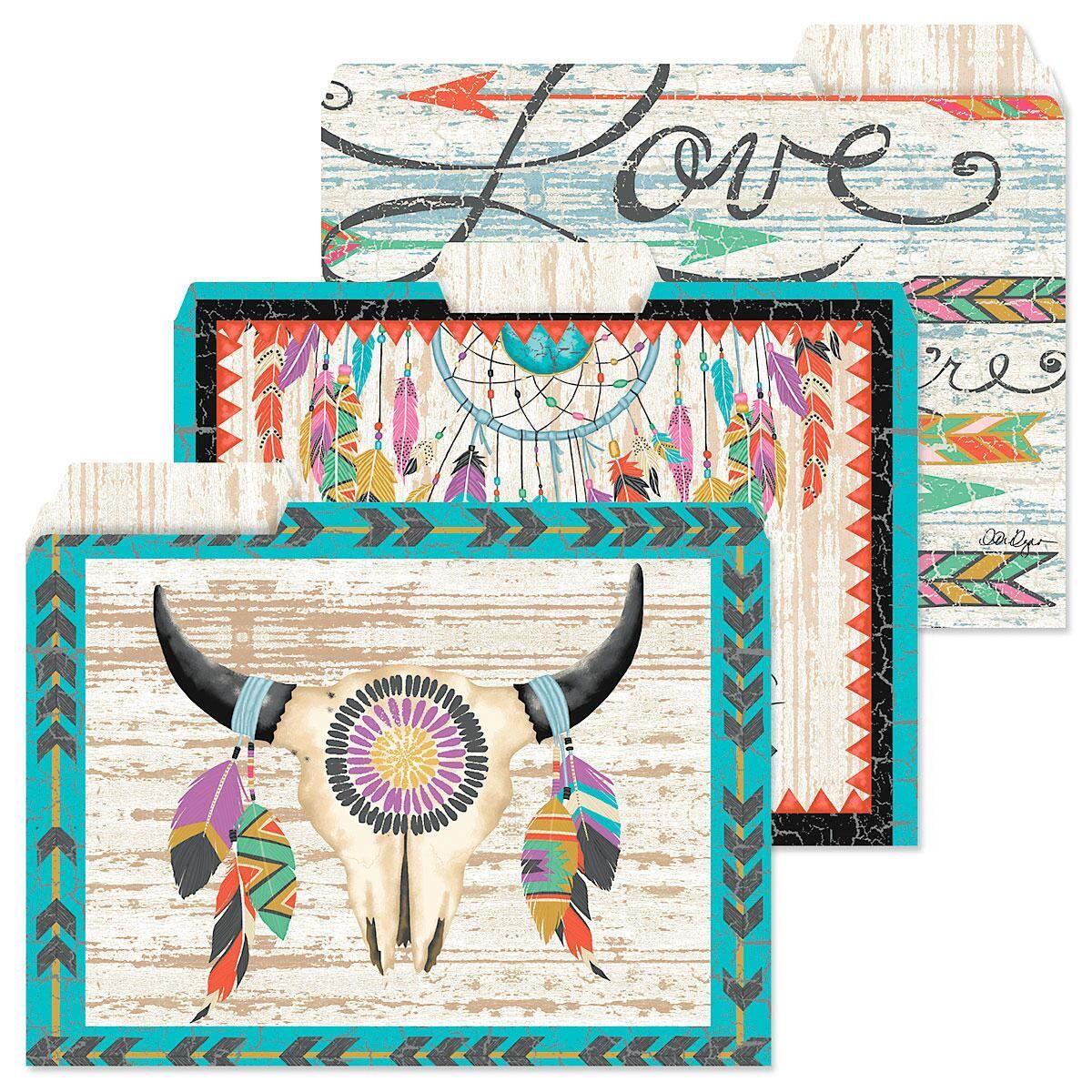 Urban Tribal File Folders  (3 Designs)